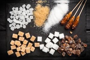 Bild mit verschiedenen Zuckerarten