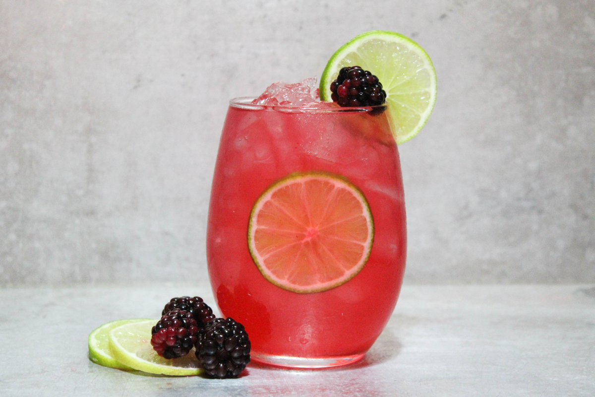White Wine Blackberry Mule