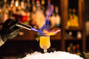 flambierter Cocktail
