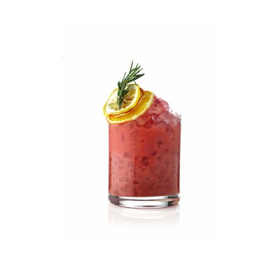 Ginmare garniert mit Orangenscheiben und Thymian