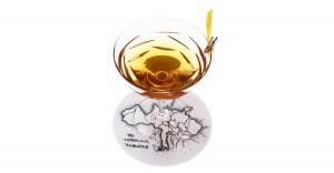 Glas auf einer Landkarte, The Traveling Tombstone