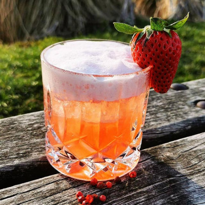 The Strawberry Gin Sour