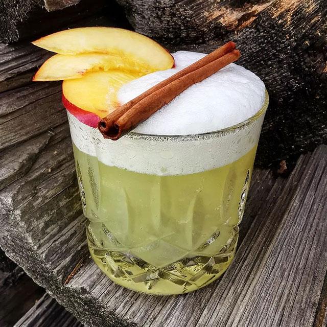 The Nectarine Whiskey Sour